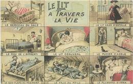 ILLUSTRATEUR  J.K.  Le Lit à Travers La Vie  (Militaire)   Multivues - Umoristiche