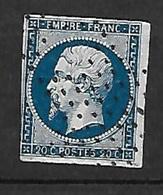 France N° 14B      Oblitéré B/TB   Roulette D'étoiles R       .. Soldé à Moins De10 % ! ! ! - 1853-1860 Napoleon III
