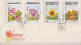 Enveloppe  FDC  1er  Jour   KAMPUCHEA    Fleurs   1983 - Kampuchea