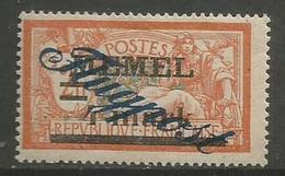 Memel (Klaipeda) - 1922 Merson Airmail Overprint 4m/4f MH *   Mi 81 - Used Stamps