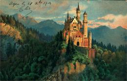SCHWANGAU NEUSCHWANSTEIN   SCHLOSS  Très Belle Litho Postée 1904 - Allemagne