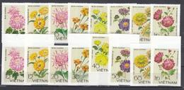 Vietnam 1978 - Flowers: Chrysanthemums, Mi-Nr. 999/1006, Perf.+imperf., MNH** - Vietnam