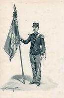 Gravure Couleur. Militaria. Infanterie. Eugène Chaperon. 1893 - Uniformes