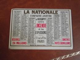 Calendrier, 1925, La Nationale, Type Recto Verso - Petit Format : 1921-40
