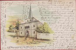 Zeer Oude Kaart Kerk Van Alden-Eyck Bij Maaseik Limburg 1900 19de Eeuw  Aldeneik Stevensweert (In Zeer Goede Staat - Maaseik