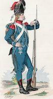 Gravure Couleur. Militaria. Infanterie. Carabinier Demi-brigade Légère 1797 - Uniformes