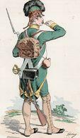 Gravure Couleur. Militaria. Infanterie. Chasseur Royaux De Provence 1788 - Uniformes