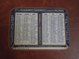 Calendrier, 1918, CIE ASSURANCES Générales Contre L'incendie , Type Recto Verso - Petit Format : 1921-40