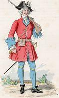 Gravure Couleur. Militaria. Infanterie. Hemel, Suisse. Fusilier 1727 - Uniformes