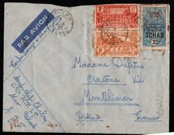 Tchad Moyen Congo AEF Fort-Lamy 4 Juillet 1937 ( Le 4 A été Positioné à L'envers Dans Le Bloc Dateur ) - Tchad (1922-1936)