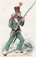 Gravure Couleur. Militaria. Infanterie. Légion Basse Alpes. Carabinier 1819 - Uniformes