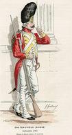 Gravure Couleur. Militaria. Infanterie. Grenadier Chateauvieux Suisse 1791 - Uniformes