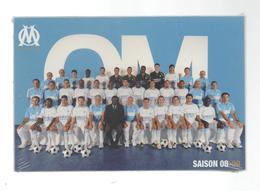 LOT DE 30 CARTES CP CARTE POSTALE  FOOT FOOTBALL OM OLYMPIQUE DE MARSEILLE AVEC DEDICASSE ET VERSO - Postcards