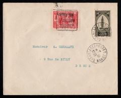 """Maroc France Enveloppe Postée à Casablanca Le 30 Avril 1930 Avec Oblitération Daguin """" Journée Nationale Mal FOCH """" - Tchad (1922-1936)"""