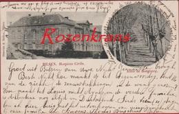 Zeer Oude Kaart ZELDZAAM Bilsen Bilzen Allee De Borgberg Hospices Civils Limburg 1900 19de Eeuw (In Zeer Goede Staat) - Bilzen