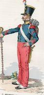 Gravure Couleur. Militaria. Tambour-Maitre 1830 - Uniformes