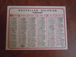 Calendrier, 1926, NOUVELLES GALERIES, Limoges , Type Recto Verso - Petit Format : 1921-40