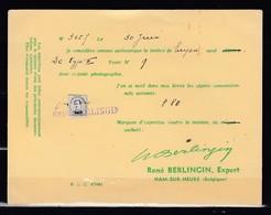 Keuringskaartje Réne Berlingin Expert Ham-Sur-Heure - [OC55/105] Eupen/Malmedy