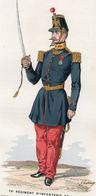 Gravure Couleur. Militaria. Capitaine De Grenadiers En Tenue De Service. 1855 - Uniformes