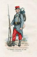 Gravure Couleur. Militaria. Tenue De Campagne. 1892 - Uniformes