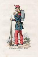 Gravure Couleur. Militaria. Caporal 1868 - Uniformes