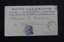 ESPAGNE - Enveloppe De L 'Hôtel Calamayor De Palma De Mallorca Pour Paris En 1955 - L 56334 - 1951-60 Cartas
