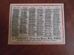 Calendrier, 1901, E Pourchet Paris, Librairie , Type Recto Verso - Calendriers