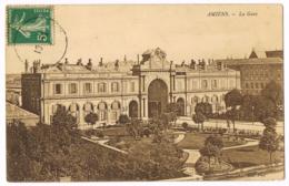 Amiens - La Gare - Mr AUGUEZ - Mlle HAVAUX - Circulé 1906 - Amiens