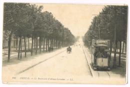 246 Amiens - Le Boulevard D'Alsace-Lorraine - Animée - Tramway - Dubonnet - Attelage - 1911 - Amiens