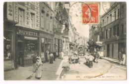 198 Amiens - La Rue Dumérie - Belle Animation - Buvette - Pharmacie - Charrette - Tramway - Circulé 1911 - Amiens
