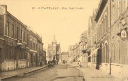 59 ANNOEULLIN - RUE NATIONALE ( CAFE - MAIRIE ) - Andere Gemeenten