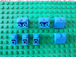 Lot Lego Bleu Incliné - Lego