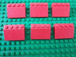 Lot Lego Rouge Incliné 3 - Lego