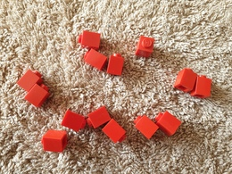 Lot Lego Rouge 1x1 - Lego