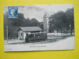 Monnetier-Eglise (Salève) , Tramway ,avec Timbre Ceres ,precurseur ,RARE - France