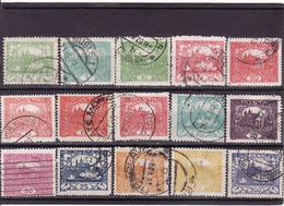 Czechoslovakia  1919, Hradcany - Hradschin, Prag, 15 Different Gebraucht - Tchécoslovaquie