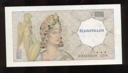 Echantillon Banque De France  -  N° 1250  -  Petite Marge - Specimen