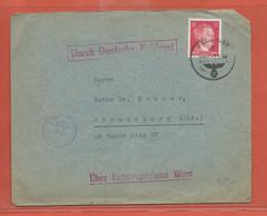 ALLEMAGNE LETTRE FELDPOST DE 1944 POUR STRASBOURG - Occupation 1938-45