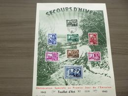 "BELG.1943 631-638 FDC Filetelic Card: "" Winterhulp / Secour D'hiver "" - ....-1951"