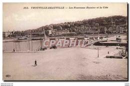 CPA Trouville Deauville Les Nouveaux Bassins Et La Cote - Deauville