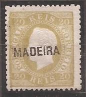 Madeira, 1871/6, # 16 Dent. 12 3/4, Sob. B, MNG - Madeira