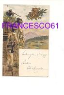 3315) MILITARI 4° REGGIMENTO BERSAGLIERI ILLUSTRATA PARILLI 1909 VIAGGIATA - Reggimenti