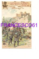 3318) MILITARI IX BATTAGLIONE BERSAGLIERI ILLUSTRATA SPOLETO NON VIAGGIATA - Reggimenti