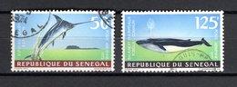SENEGAL  PA   N° 121 + 122    OBLITERES   COTE  4.00€   POISSON  ANIMAUX - Sénégal (1960-...)