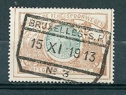 TR 33 Gestempeld BRUXELLES S P N° 3 - Bahnwesen