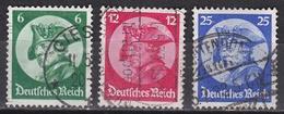 Wlk_ Deutsches Reich - Mi.Nr. 479 - 481  - Gestempelt Used - Germania