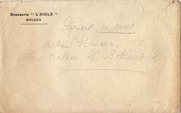 Enveloppe Brasserie Brouwerij De L'aigle  Bruges - Levensmiddelen