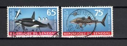 SENEGAL  PA   N° 126 + 127    OBLITERES   COTE  3.50€   POISSON  ANIMAUX - Sénégal (1960-...)