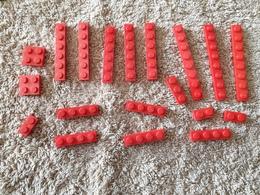 Lot Lego  Plaque Rouge - Lego