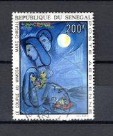 SENEGAL  PA   N° 128    OBLITERE   COTE  4.00€   PEINTRE TABLEAUX  CHAGALL - Sénégal (1960-...)